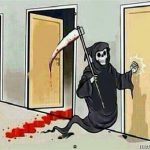 Grim Reaper Knocking Door