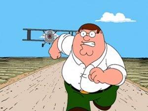 Peter Griffin Running Away