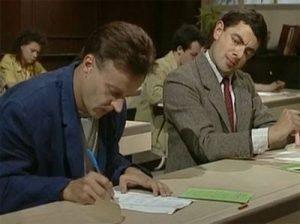 Mr Bean Copying