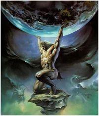 Atlas holding Earth
