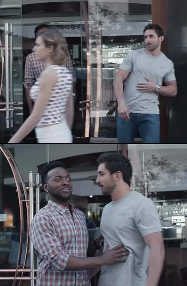 black guy stopping