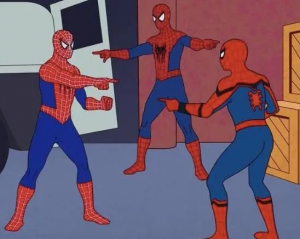 3 Spiderman Pointing