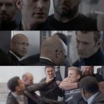 Captain america elevator