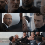 Captain America Elevator Fight