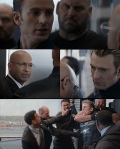 Captain America Elevator Fight