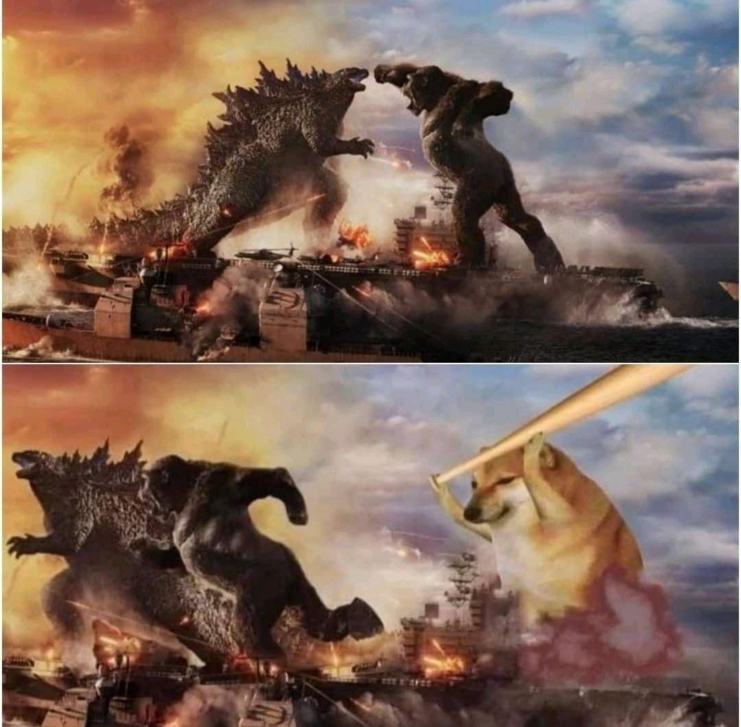 Kong Godzilla Doge