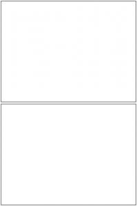 Blank Comic Panel 1x2