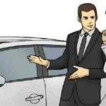 Car Salesman Slaps Roof Of Car